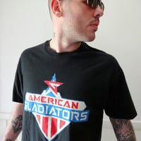 Vintage American Gladiators T-shirt 1989