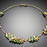 Wreath Necklace by Giselle Kolb: Enameled Necklace - Artful Home