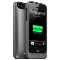 Mophie Juice Pack Helium Battery Pack Case for iPhone 5 - Retail Packaging - Dark Metallic:Amazon:Cell Phones & Accessories