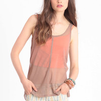 Intent Mesh Tank By Gentle Fawn - $13.50 : ThreadSence, Women's Indie & Bohemian Clothing, Dresses, & Accessories