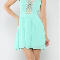 The Mint Chiffon Dress