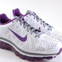 Nike Air Max 2011 + berry Purple/White Leather Running Trainers Gym Work Out Women Shoes:Amazon:Shoes