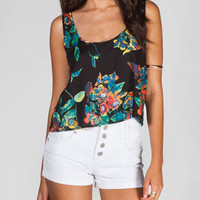 FULL TILT Womens Open Back Crop Top