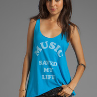 Local Celebrity Music Saved My Life Ziggy Tank in Pool Blue from REVOLVEclothing.com