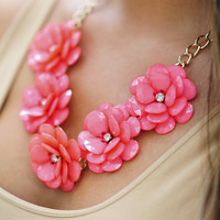 Picked For You Necklace: Coral | Hope's
