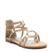 Embellished-Strappy-Sandals BLACK EMERALD NUDE - GoJane.com