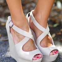 Last Call Look-A-Like Wedges: Nude | Hope's