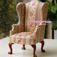 1:6 Barbie Furniture Uphostered The British ROYAL Chair Armchair Sofa | PureDreamForDolls - Dolls & Miniatures on ArtFire