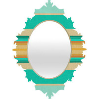 DENY Designs Home Accessories | Bianca Green Fiesta Teal Baroque Mirror