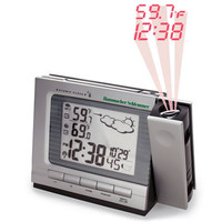 The Projection Alarm Clock and Weather Monitor - Hammacher Schlemmer