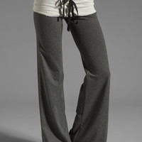 Tylie French Terry Wide Leg Pant in Charcoal from REVOLVEclothing.com