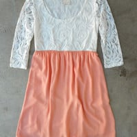 Peach Confections Dress [3953] - $42.00 : Vintage Inspired Clothing & Affordable Summer Frocks, deloom | Modern. Vintage. Crafted.