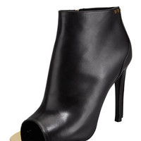 Tom Ford Screw-Studded Leather Open-Toe Bootie