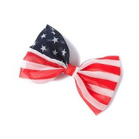 Stars and Stripes Flag Bow Barrette  | Claire's