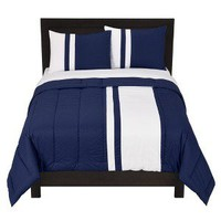 Room Essentials® Rugby Stripe Comforter Set - Blue