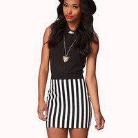Vertical Striped Pencil Skirt | FOREVER 21 - 2051702518