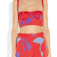 Tucker | Floral-print stretch-silk crepe de chine shorts | NET-A-PORTER.COM