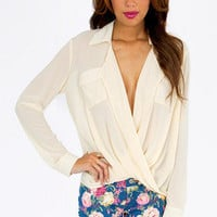 Aubrey Twist Top $30