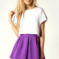 Katie Box Pleat Skater Skirt