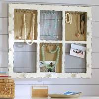 Rustic Framed Wall Jewelry Display | PBteen