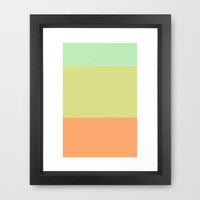 Re-Created Playing Field VI Framed Art Print by Robert Lee