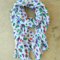 Sugar Skull Scarf [3328] - $18.00 : Vintage Inspired Clothing & Affordable Summer Frocks, deloom | Modern. Vintage. Crafted.