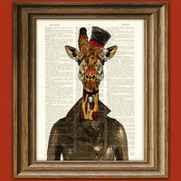Steampunk Giraffe Countess Cornelia Giraffe with by collageOrama