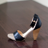 Ankle Strap - Black Leather | Emerson Fry