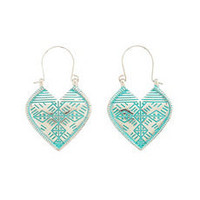 Dangling Tribal Heart Earrings: Charlotte Russe