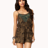 Studded Tribal Print Romper