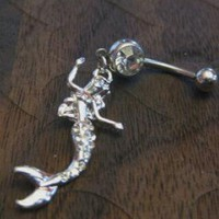 Sexy Mermaid Crystal Rhinestones Belly Button Ring