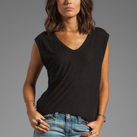 T by Alexander Wang Slub Classic Muscle Tee in Black from REVOLVEclothing.com