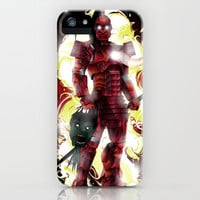 Flaming Iron Samurai Terminator  iPhone &amp; iPod Case by eos vector