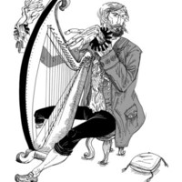 Ye Olde Harp Player Art Print by Dushan Milic