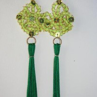 Eastern Kite tassel earrings