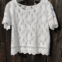 White lace top by myliltreasureboxx on Etsy
