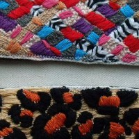 Hand Embroidered Multi Color Woven cuff
