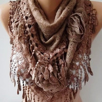 Mothers day gift cappuccino brown Gorgeous Scarf Elegant and Classy--Headband