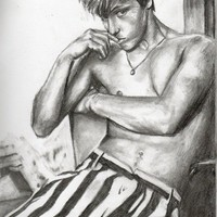 Mitch Hewer 2 Art Print by AliArt
