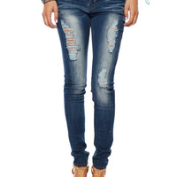 Papaya Clothing Online :: FRAYED DISTRESSED JEANS