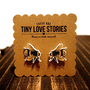 Tiny Love Stories | Busy Honey Bee Earrings, Jewelry, vintage, Nature, Insect, Geekery, Nerd, Trendcore