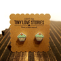 Tiny Love Stories | Mint Frosting Cupcake Earrings, Jewelry, Kawaii, Geekery, Nerd, Trendcore