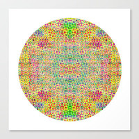 Mesh Circle Stretched Canvas by Glanoramay