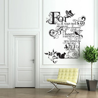 Vinyl Wall Decal Sticker Art - Kissed my Soul - Judy Garland quote - Whimsical Mural