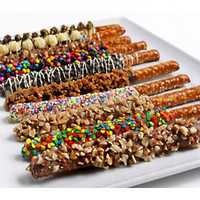 Gourmet Chocolate Dipped Pretzels - FindGift.com