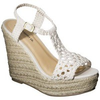 Women's Mossimo Supply Co. Waneta Macramé Wedge Sandal - Natural
