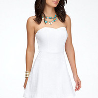 Heart Neck Strapless Dress
