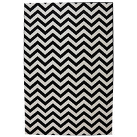Indoor/Outdoor Bright Beams Black Rug (5'3 x 7'6) | Overstock.com