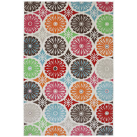 Indoor/Outdoor Bright Radials Multi Rug (5'3 x 7'6) | Overstock.com