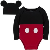 Disney Store Mickey Mouse Clubhouse Cuddly Cotton Bodysuit Costume Set for Baby Halloween Ears (2T 2 Toddler)